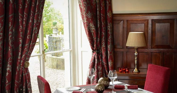 elegant restaurant curtains with tie backs