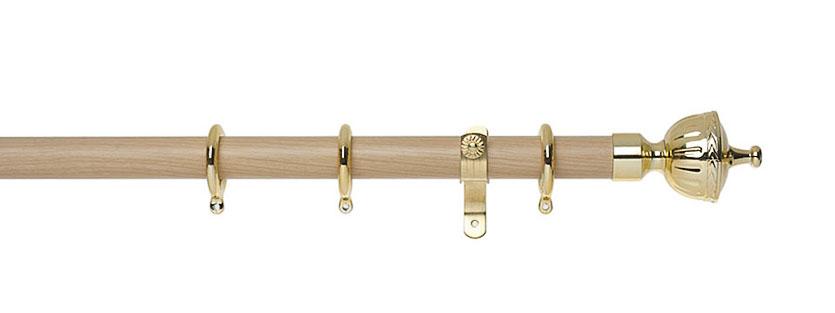 wood curtain rail