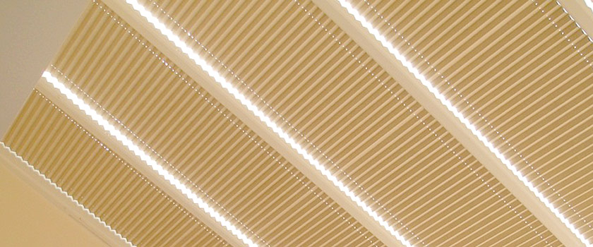 pleated roof blind