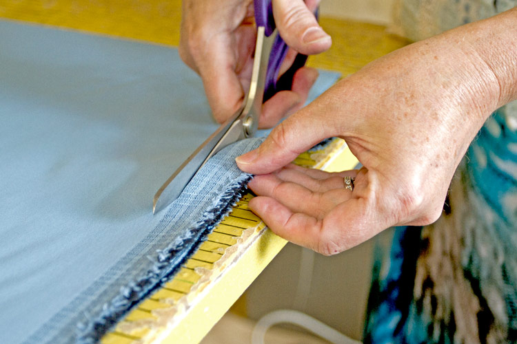 cutting out curtains