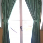Curtains for arched window at Lincoln College