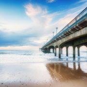 Bournemouth Beach with Boscombe Pier
